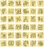 Hand drawn business icons set Royalty Free Stock Images