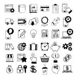 Hand-Drawn Business Icons. Vector illustration of hand-drawn business icons Stock Photos