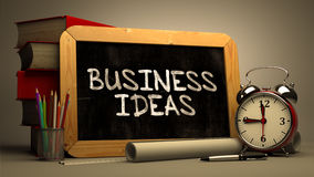 Hand Drawn Business Ideas Concept on Chalkboard Stock Photos
