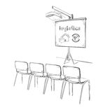 Hand Drawn Business Logistic Presentation Concept Stock Photography