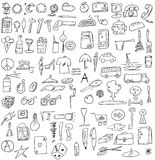 Hand drawn business objects Stock Photos
