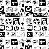 Hand drawn business objects Royalty Free Stock Image