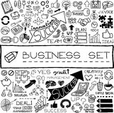 Hand drawn business set of icons Royalty Free Stock Photography