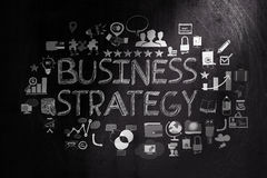 Hand drawn business strategy Royalty Free Stock Photos