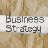 Hand drawn  business strategy words on crumpled paper with tear Royalty Free Stock Photography