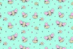 Hand drawn butterflies seamless pattern Stock Image