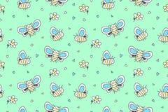 Hand drawn butterflies seamless pattern Stock Photography