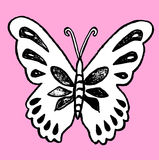 Hand drawn butterfly Royalty Free Stock Photos