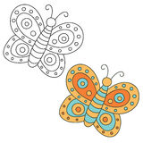 Hand drawn butterfly. Vector illustration Stock Images