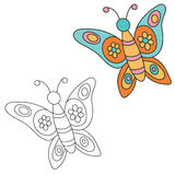 Hand drawn butterfly. Vector illustration Royalty Free Stock Image
