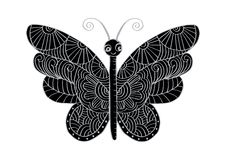 Hand drawn butterfly royalty free illustration