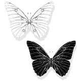 Hand drawn butterfly zentangle style Royalty Free Stock Photography