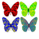 Hand drawn butterfly zentangle style Royalty Free Stock Images