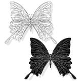 Hand drawn butterfly zentangle style Stock Photos