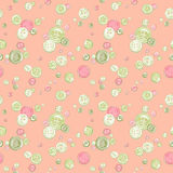 Hand drawn buttons pattern. Hand drawn colorful  buttons pattern Stock Images