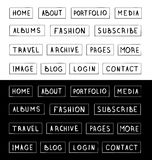 Hand drawn buttons. Template for design websites, apps and interface. Royalty Free Stock Image