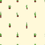 Hand drawn cactus colorful background pattern. Hand drawn cactus background colorful pattern Royalty Free Stock Photos