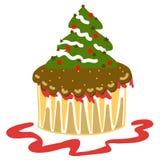 Hand-drawn cake för xmas-fantasikopp Royaltyfria Foton