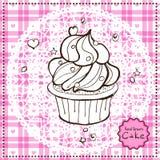 Hand drawn Cake. Vector illustration. Royalty Free Stock Photos