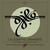 Hand drawn calligraphic ornament Stock Photos