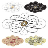 Hand drawn calligraphic ornaments (vector) Royalty Free Stock Photo