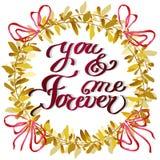 Hand drawn calligraphy card. Valentine love card  Stock Photo