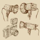 Hand drawn camera Stock Photography