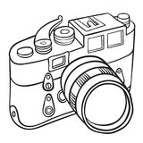 Hand drawn camera Royalty Free Stock Image