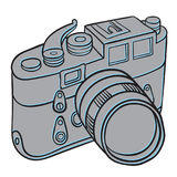 Hand drawn camera Stock Images
