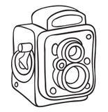 Hand drawn camera Royalty Free Stock Photo