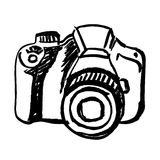 Hand drawn camera Stock Image