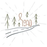 Hand drawn camping icons set. Camping icons to use for web and mobile UI Royalty Free Stock Photos