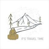 Hand drawn camping vector illustration Royalty Free Stock Photo