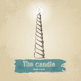 Hand drawn candle Stock Photography