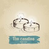 Hand drawn candle Royalty Free Stock Photo