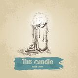Hand drawn candle Royalty Free Stock Images