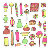 Hand drawn candy set Stock Photography