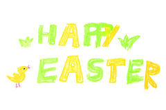 Hand drawn caption Happy Easter Royalty Free Stock Photo