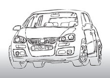 Hand drawn car sketch Stock Photography