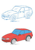 Hand Drawn Car Vehicle Scribble Sketch Vector Illustration Royalty Free Stock Image
