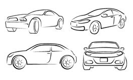 Hand Drawn Car Vehicle Scribble Vector Illustration Stock Image