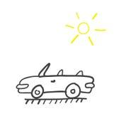 Hand drawn car Royalty Free Stock Photo