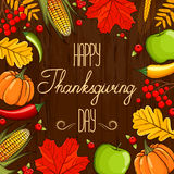 Hand drawn card Thanksgiving Day Royalty Free Stock Images