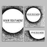 Hand drawn cards Royalty Free Stock Photography