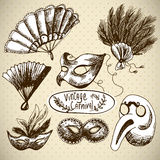 Hand Drawn Carnival Vector Design Elements Royalty Free Stock Image