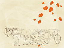 Hand drawn carriage Royalty Free Stock Image