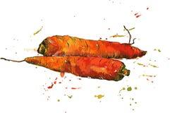 Hand drawn carrots
