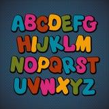 Hand drawn cartoon doodle font Stock Image