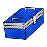Hand drawn cartoon doodle of a metal tool box. A creative cartoon doodle of a metal tool box vector illustration