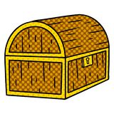 Hand drawn cartoon doodle of a treasure chest. Illustrated hand drawn cartoon doodle of a treasure chest stock illustration